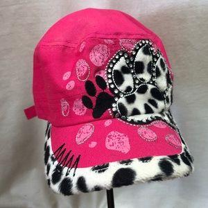 KBethos Hot Pink paw print Bling Cap